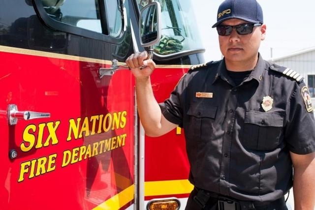 First nations firefighter