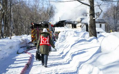 Red Cross Helping Victims of Fire
