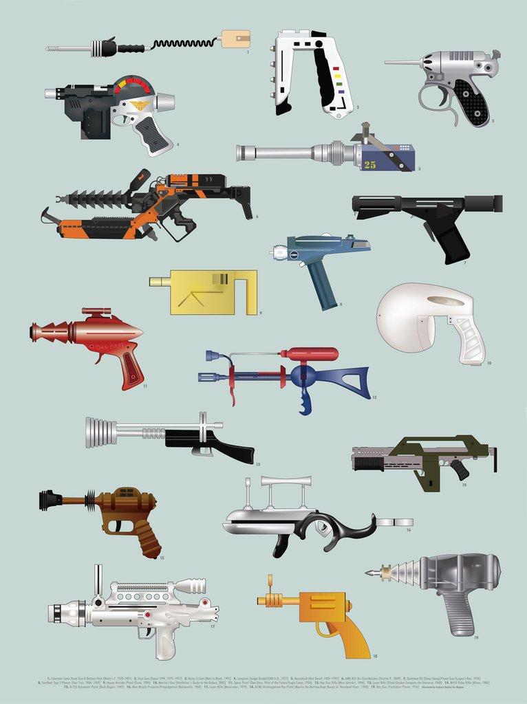 Federico Babina Ray Guns print