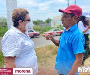 Abasto de agua, compromiso primordial de Esmeralda Mora Zamudio