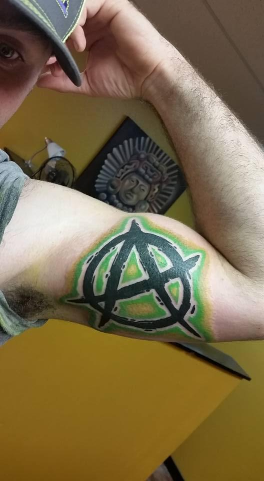 Anarchy Arm Tattoo - Firme Copias