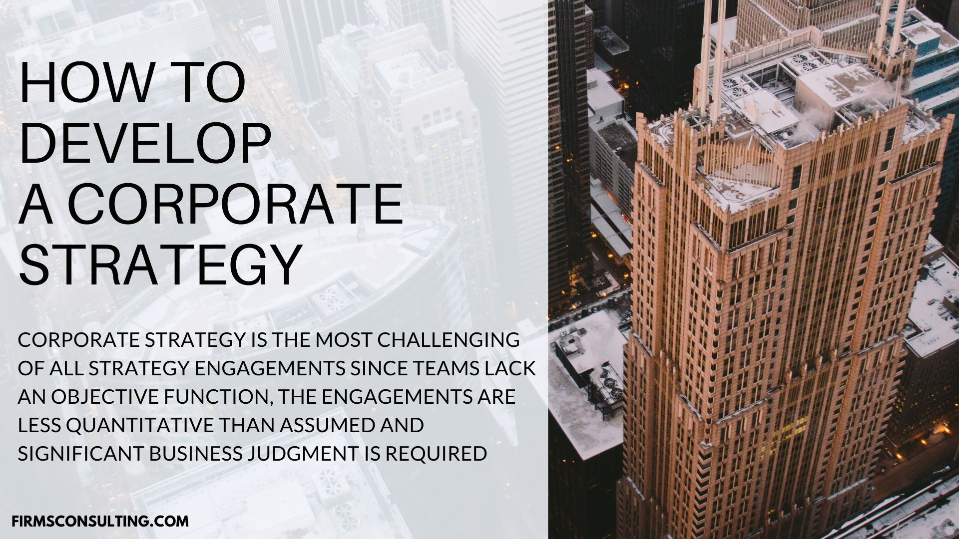 corporate strategy for power utility consulting