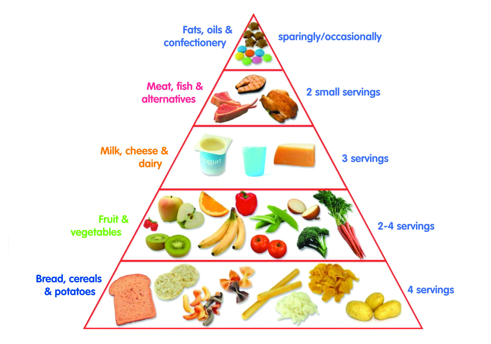 Toddler Food Pyramid First Days