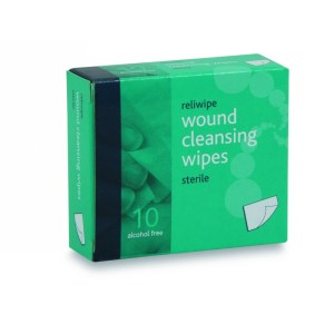 St Andrew's First Aid Alcohol-free Cleansing Wipes Box of 10