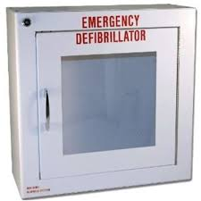 wall mounted cabinet with alarm for lifeline aed