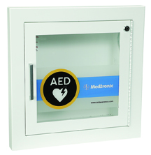 alarmed wall cabinet for lifepak cr plus aed