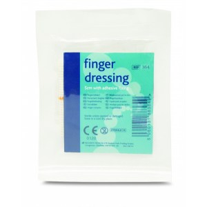 large finger dressing with adhesive fixing pack of 10