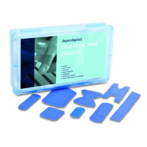 blue washproof assorted plasters box of 120