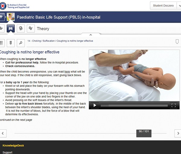 Paediatric Basic Life Support (PBLS) in Hospital