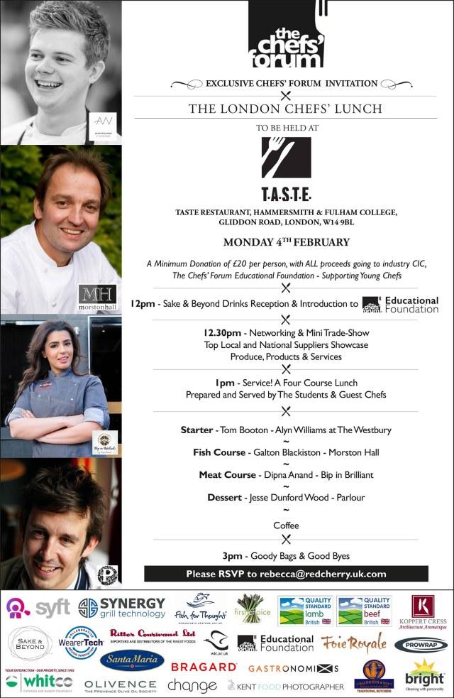 London Chef's Lunch Invite