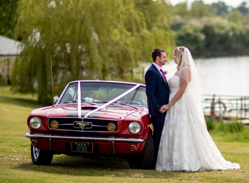 Red Mustang Ford Mustang Wedding Car In Uxbridge Middlesex