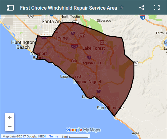 Map of areas served by First Choice