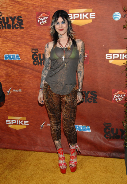 """Tattoo artist Kat Von D arrival at Spike TV's 2nd Annual """"Guy's Choice"""""""