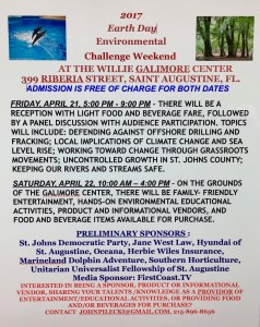 Earth Day 2017 Environmental Challenge Weekend @ Willie Galimore Center | St. Augustine | Florida | United States