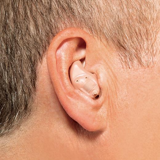 In the ear hearing aid in ear