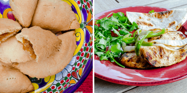 Pumpkin empanada recipe and easy chicken fajita recipe from First Day of Home