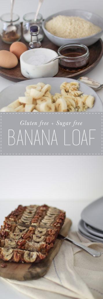 Gluten + sugar free banana loaf