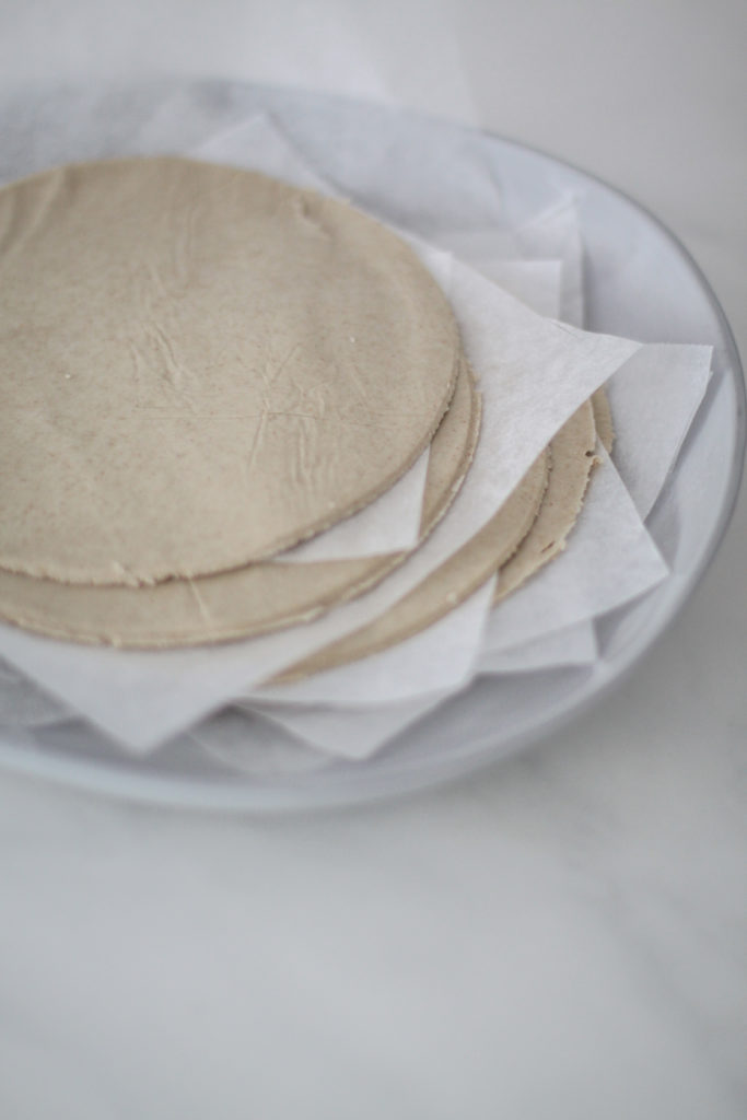 Buckwheat Chapati rolled out