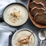 Roasted cauliflower and pear soup