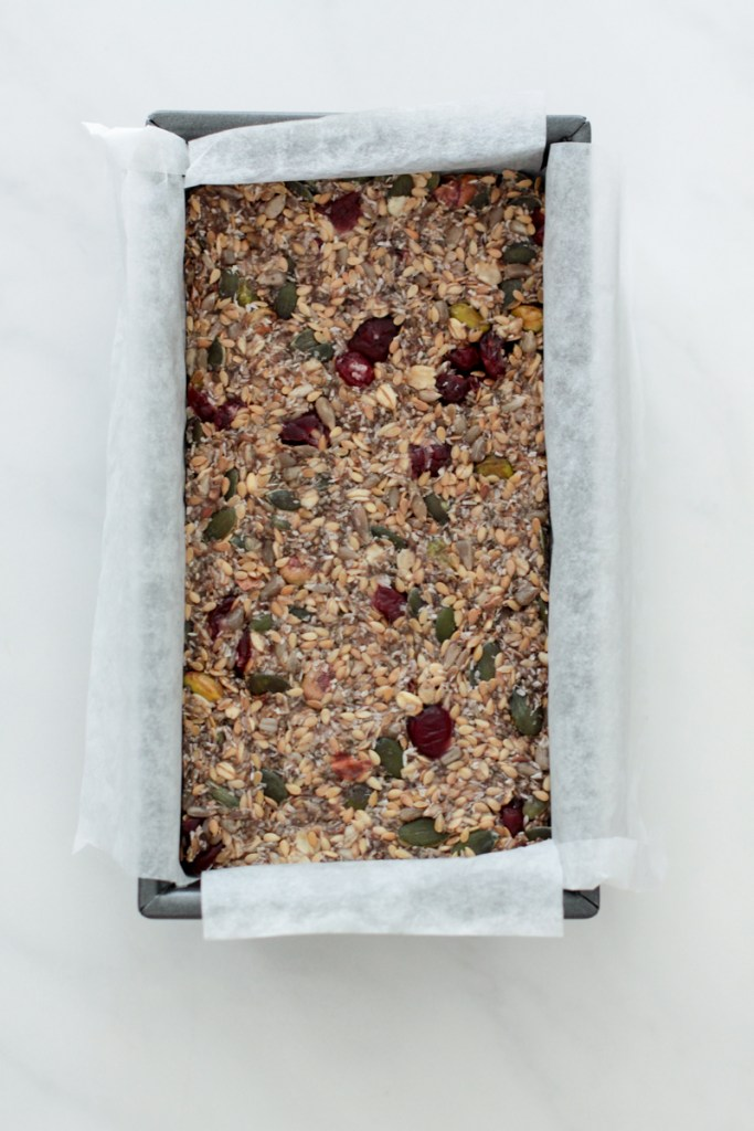 Gluten free seed loaf rested