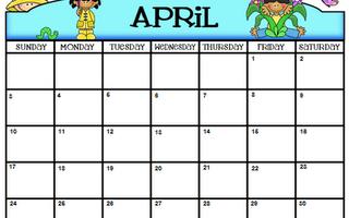 April Calendar Freebie