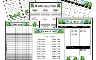 Frog Themed Classroom Newsletter and Substitute Pages!