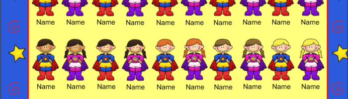 New SmartBoard Attendance Theme – Super Hero Kids