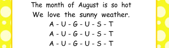 August SmartBoard Calendar Math