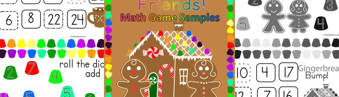 Gingerbread Math Games Samples – Freebie!