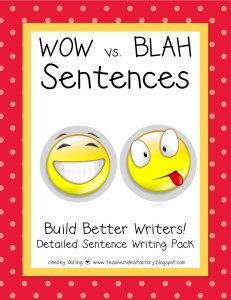 Wow vs. Blah sentences