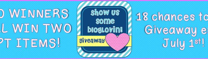 Blog Lovin' Giveaway!