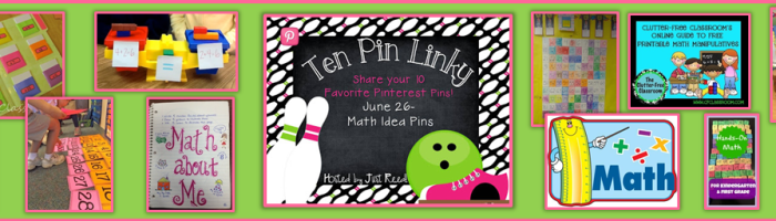 Ten Pin Linky Party – Math Idea Pins