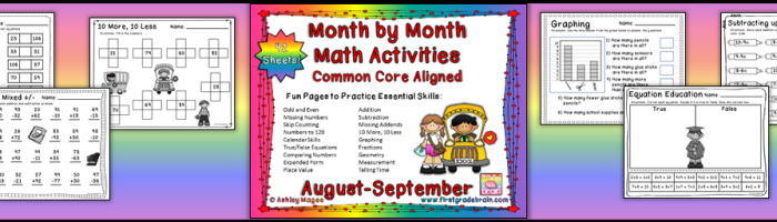 Month by Month Math Activities for the Common Core (August-September)