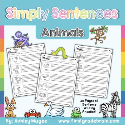 simply sentences animals
