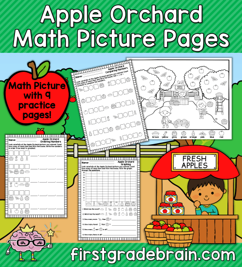Apple Orchard Math Picture Pages