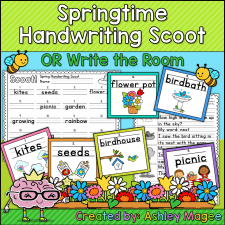 Spring Handwriting Scoot
