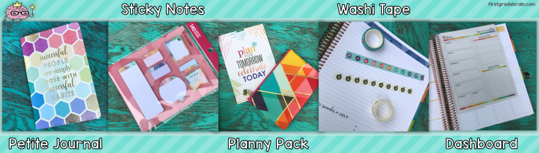Erin Condren Teacher Lesson Planner accessories