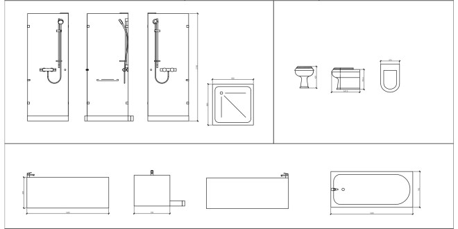 Free cad blocks bathroom first in architecture for Bathroom 2d planner