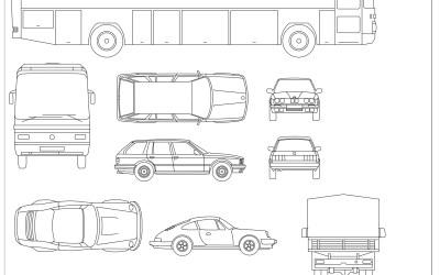 Free CAD Blocks – Vehicles 01