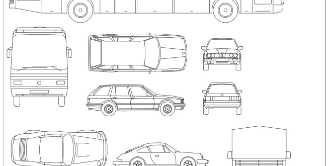 Architecture Drawing Cars cad blocks - vehicles 01 | first in architecture