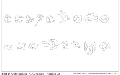 Free CAD Blocks – People (in Plan) 02