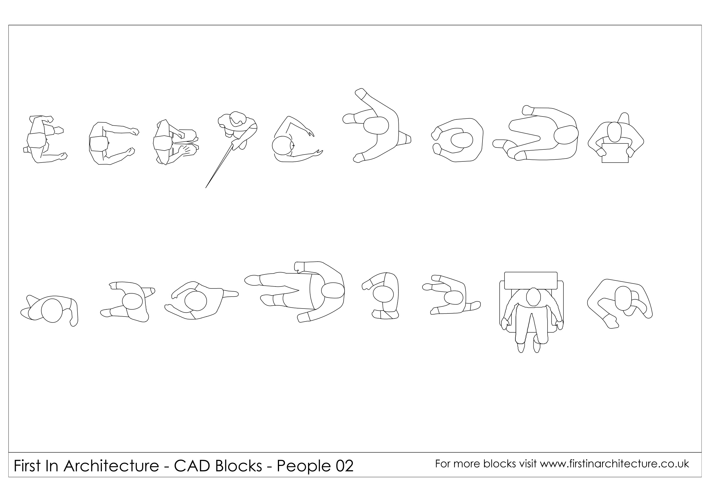 CAD Blocks - People (in Plan) 02