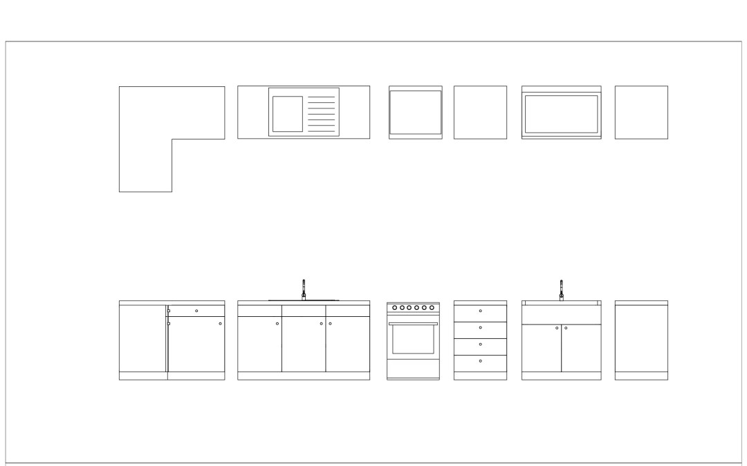 Free Cad Blocks – Kitchen 01