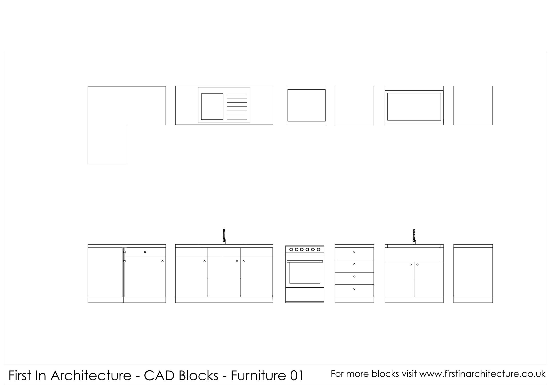 Free kitchen cad blocks