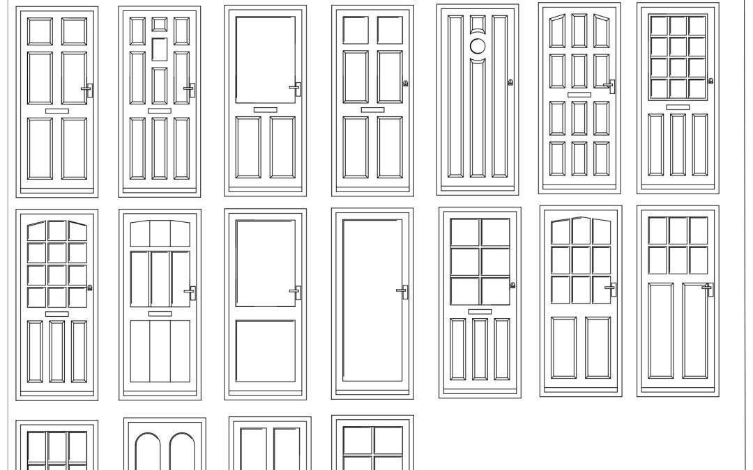 Free CAD Blocks – Door Elevations 01