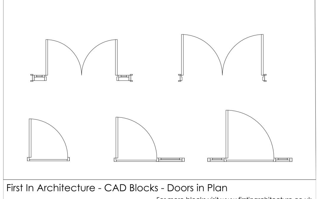 Free CAD Blocks – Door Plan 02