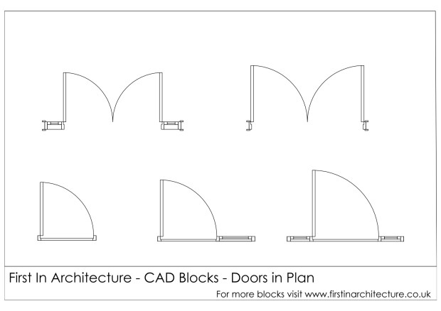 FIA Door Plan CAD Blocks 02
