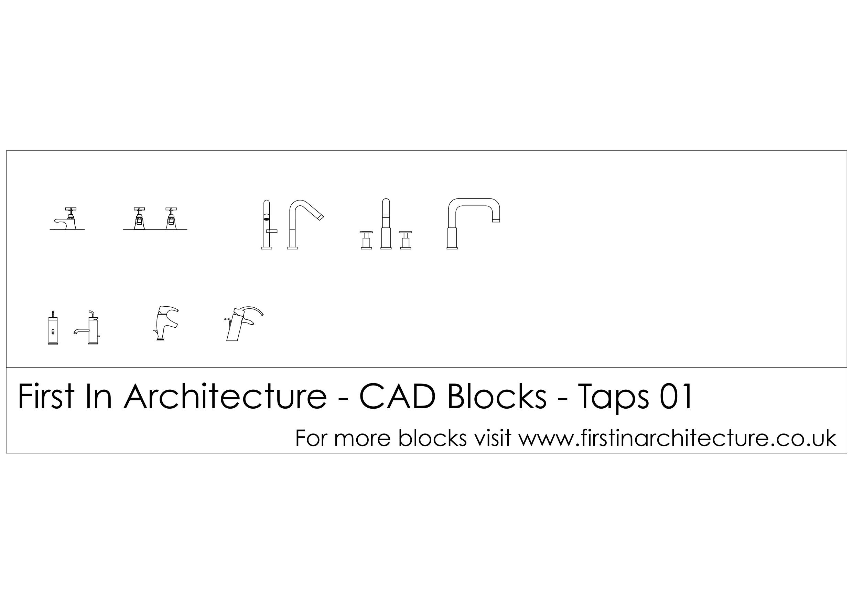 Free cad blocks taps