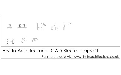 Free CAD Blocks – Taps 01