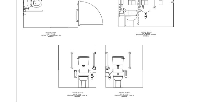 Handicap Bathroom Block free cad blocks - doc m disabled toilet | first in architecture